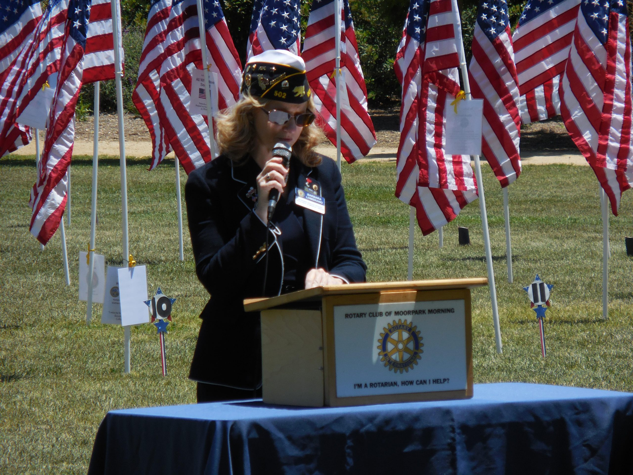 Memorial Day 2020; Memorial Day; Moorpark Field of Valor, Moorpark Morning Rotary Club, Field of Valor Moorpark